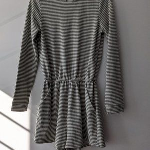 Honey Punch Striped Long Sleeve Romper Size Small